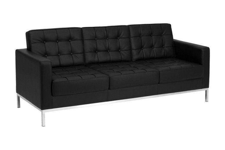 sofa hosteleria 3 plazas similpiel negra