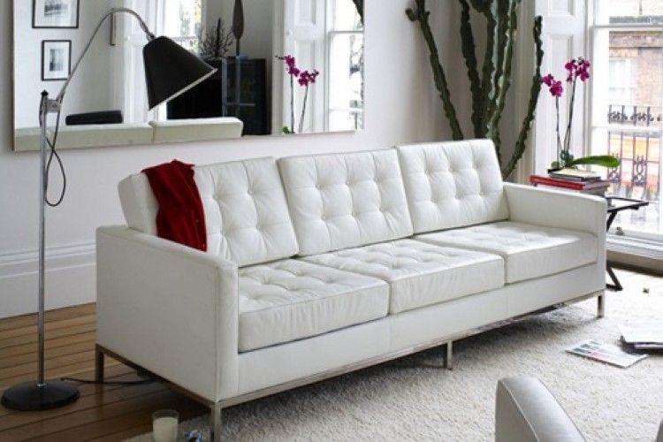 sofa hotel 3 plazas similpiel blanca