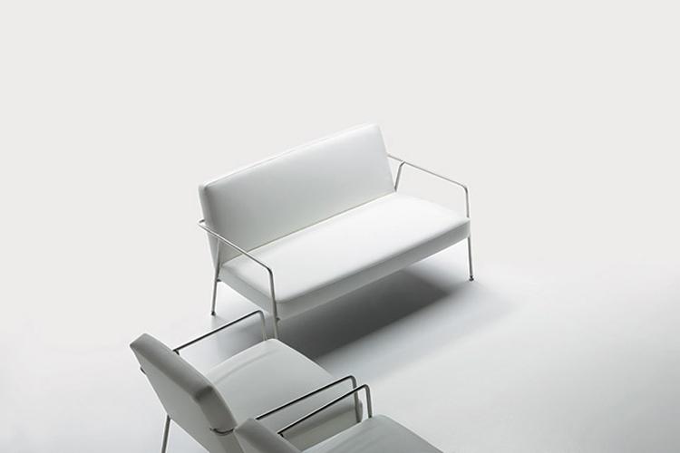 Sofá de diseño y butaca Valeri vista