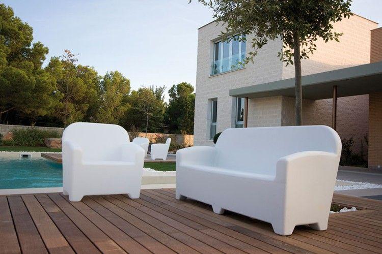 Sofá y sillón con LED Acapulco