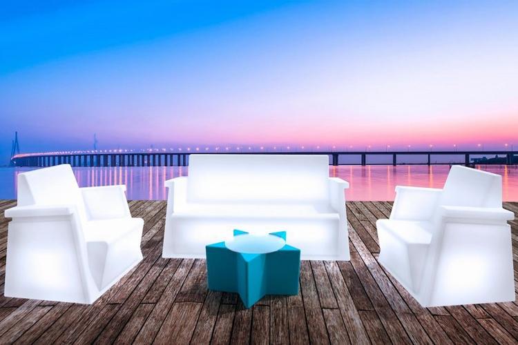 Sofá y sillones con luz LED Miami