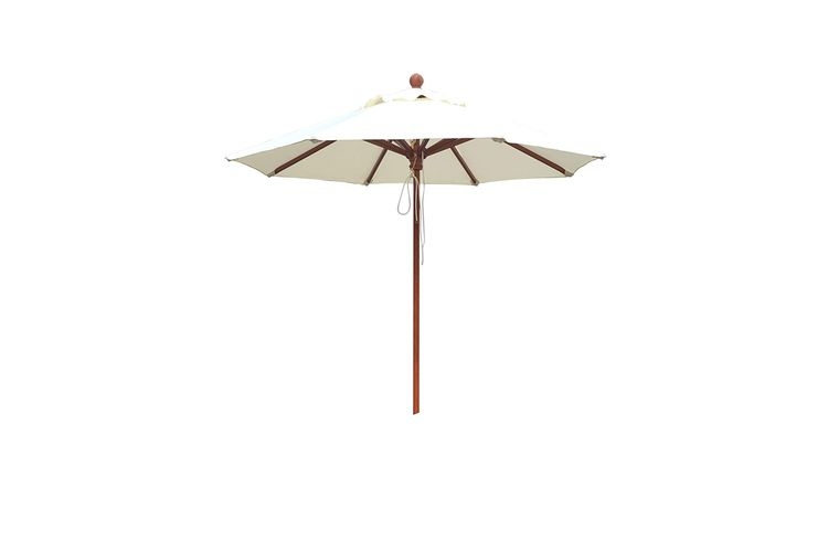Sombrilla madera de teka 2 metros