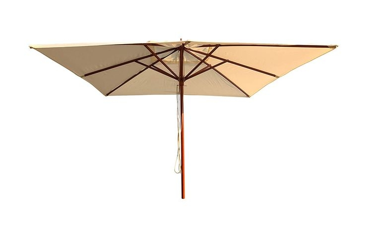 Sombrilla de madera para hosteleria teka 2x2