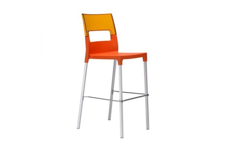 Taburete de diseño Diva naranja