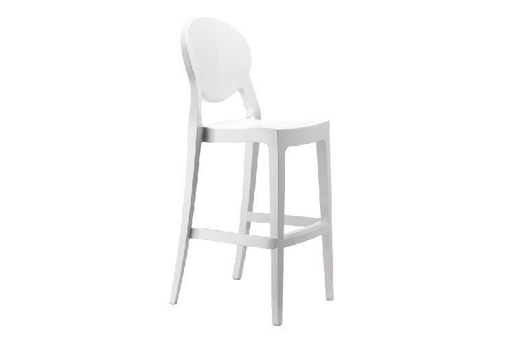 Taburete de diseño Igloo blanco