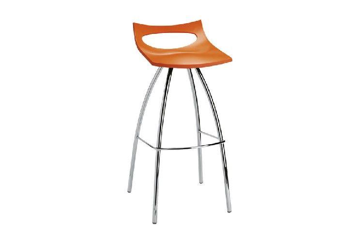 Taburete de diseño naranja diablito