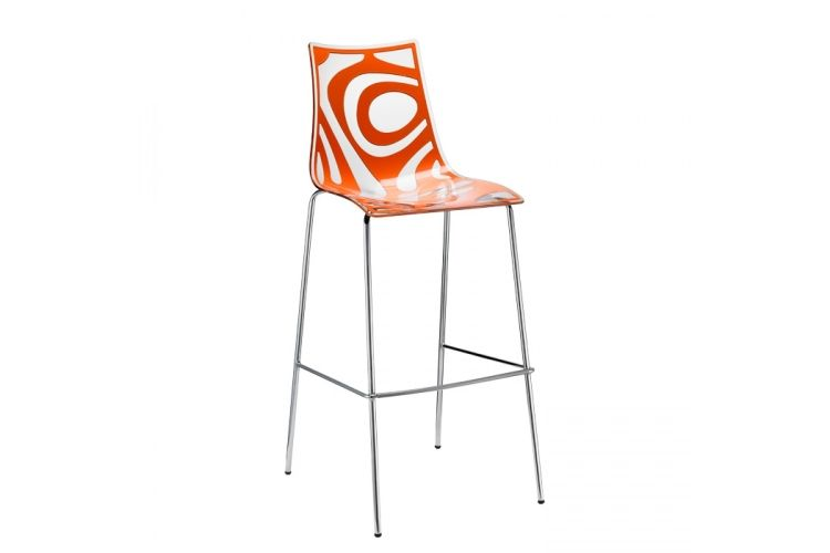 Taburete de diseño Wave naranja