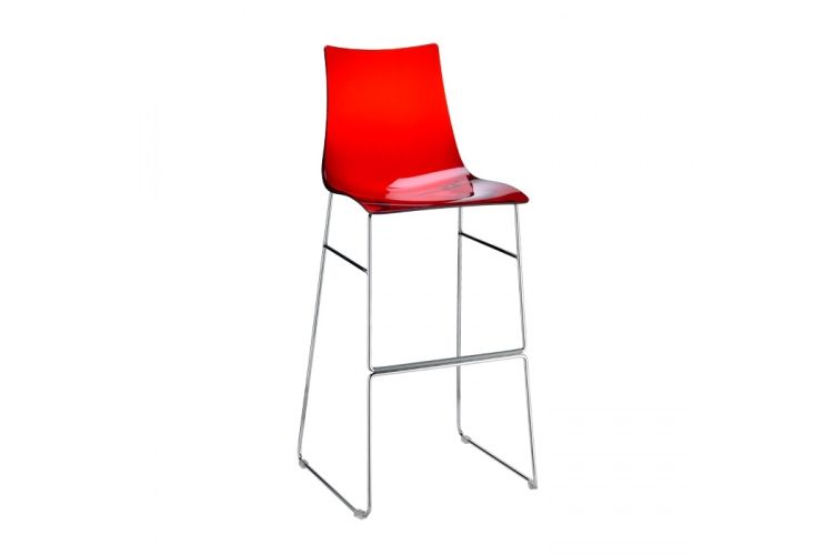 Taburete de diseño Zebra Antishock Patin rojo