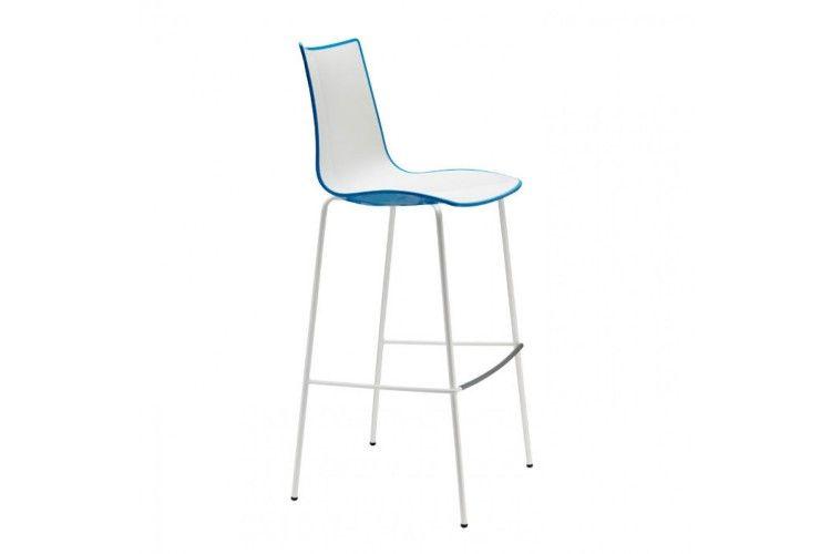 Taburete de diseño Zebra Bicolor azul