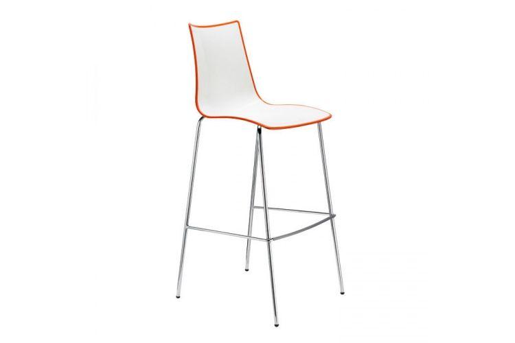 Taburete de diseño Zebra Bicolor naranja