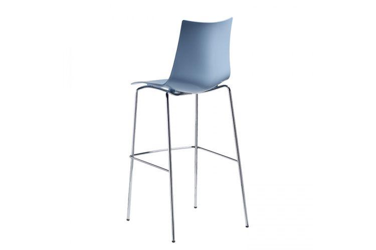 Taburete de diseño Zebra Tecno azul