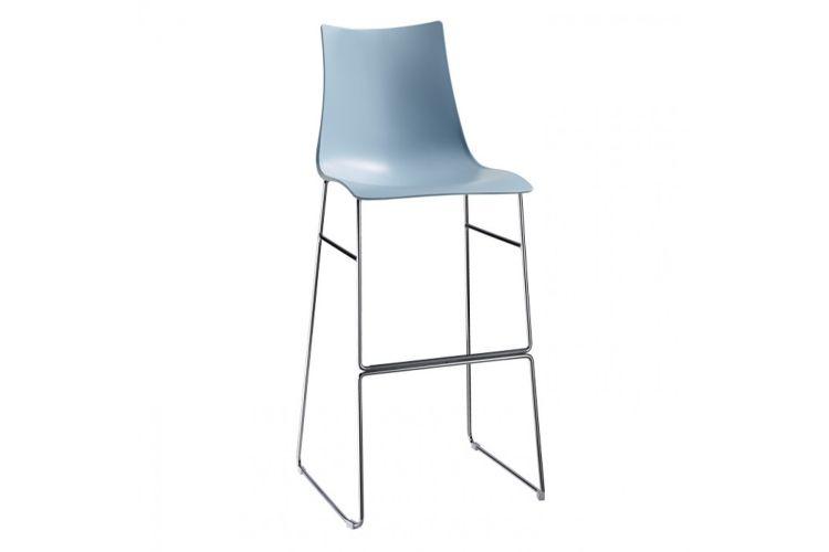 Taburete de diseño Zebra Tecno Patin azul