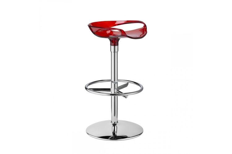 Taburete de diseño Zoe Twist rojo
