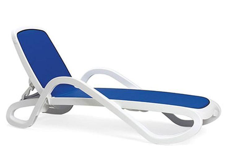 Tumbona con brazos de diseño Alfa azul