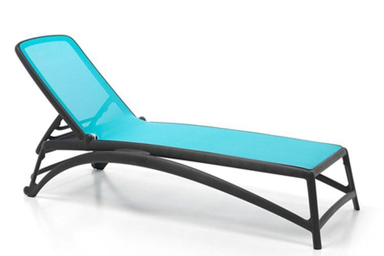 Tumbona de diseño Atlantico antracita y azul