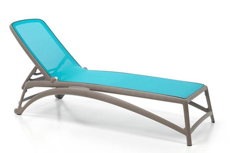 Tumbona de diseño Atlantico beige y azul