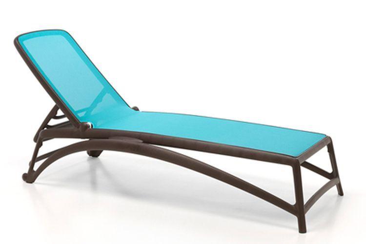 Tumbona de diseño Atlantico cafe y azul