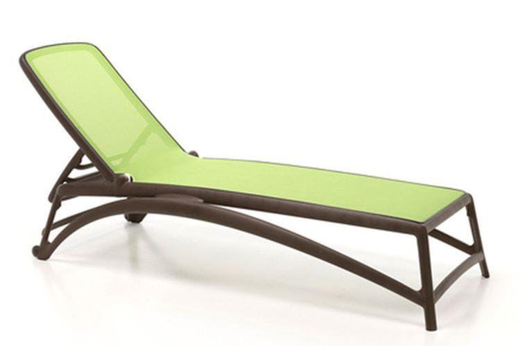 Tumbona de diseño Atlantico cafe y verde