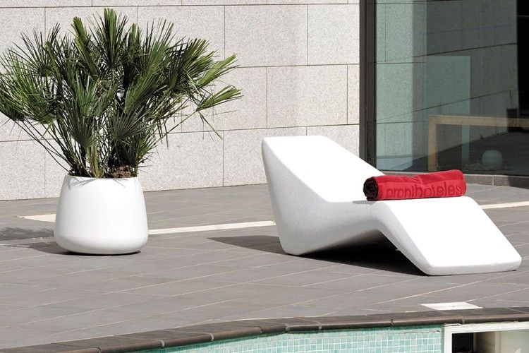 Tumbona de diseño copacabana exterior blanca