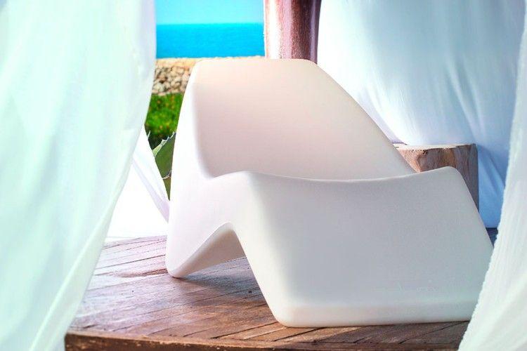 Tumbona de diseño copacabana blanca