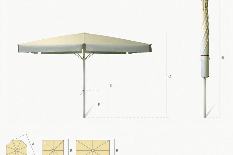 Parasol serie 9000 dibujos técnicos